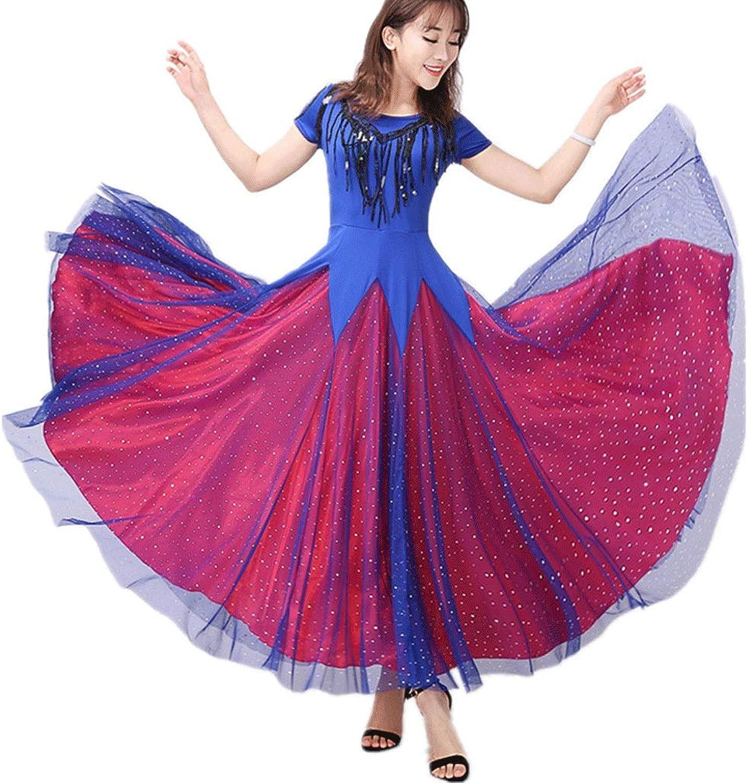 CX Modernes Gesellschaftstanzkleid Waltz Tango Toller Swingrock Kurzarm Performance Dance Kostüme