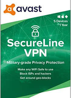 Avast SecureLine VPN 2020 | 5 Devices, 1 Year [PC/Mac/Mobile Download]