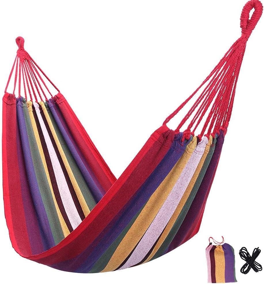 Portable Rainbow Hammock Indoor [Alternative dealer] Cotton H Outdoor Brazilian-Style Ranking TOP20