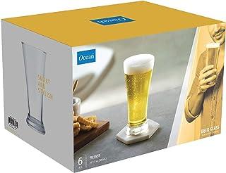 Ocean Pilsner Beer Glass, Pack of 6, Clear, 300 ml, B0091006