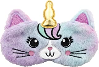 iscream Fun, Furry and Colorful Satin-Lined Caticorn Sleep Mask for Girls