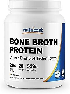 Sponsored Ad - Nutricost Chicken Bone Broth Protein Powder (20 Serv) Chicken Soup Flavor - Gluten Free & Non-GMO