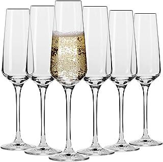 Krosno Flute Cristal de Champagne Verre   Lot de 6   180 ML   Collection Avant-Garde   Parfait la Maison, Les Restaurants,...