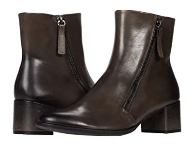 ECCO Shape 35 Block Side Zip Bootie (Warm Grey) Women