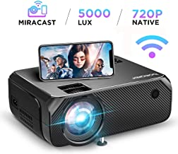 $164 » Mini Projector Portable, BOMAKER WiFi Full HD Movie Projector LCD LED Home & Outdoor Projector Compatible with TV Stick,HDMI,VGA,USB, Smartphone,PC,Xbox, Upgraded 5000 Lux
