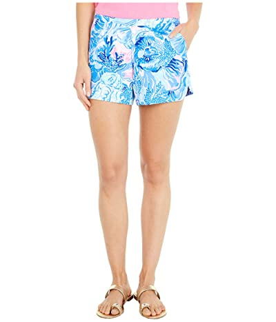 Lilly Pulitzer Ocean View Shorts (Saltwater Blue Shade Seekers) Women