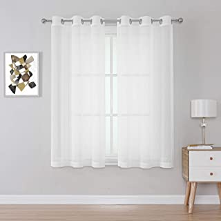 Sheer Window Curtains 54 inch Length for Kids Room,...