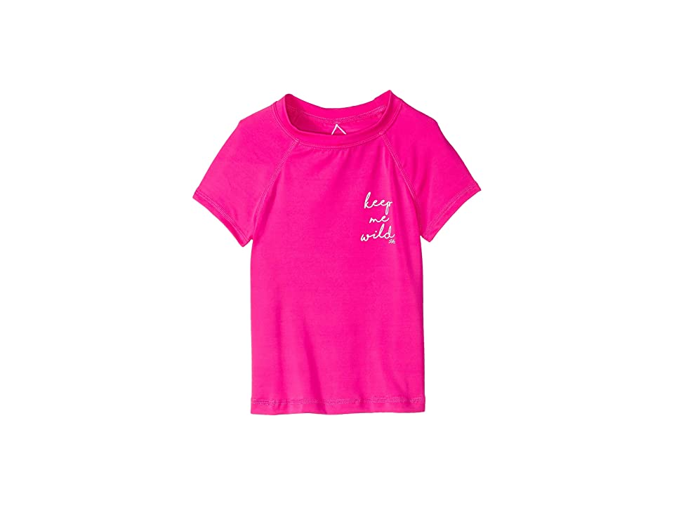 Billabong Kids Sol Searcher Short Sleeve Rashguard (Little Kids/Big Kids) (Rebel Pink) Girl