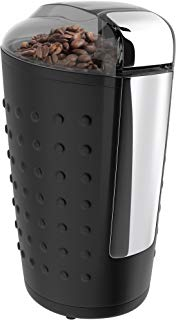 Vremi Electric Coffee Grinder - 150 Watt Portable Coffee Bean Grinder with Easy Touch Settings Stainless Steel Blades - Grinds Coarse Fine Ground Beans for 12 to 14 Cups of Coffees - Black