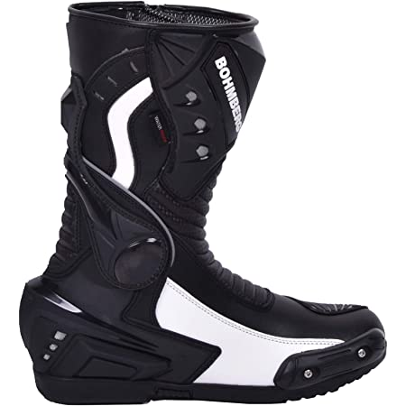 Xls Motorradstiefel Hochwertige Racing Boots Touringstiefel Lederstiefel Schwarz Grün 41 Auto