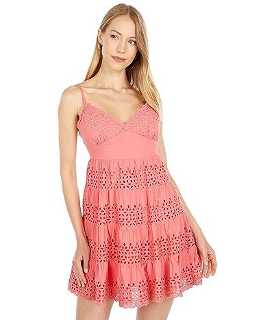 BCBGMAXAZRIA Embroidered A-Line Dress