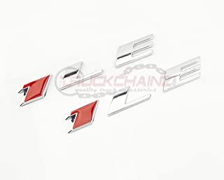 2 NEW CAMARO 1LE RED & CHROME FENDER TRUNK EMBLEMS BADGES PAIR SET