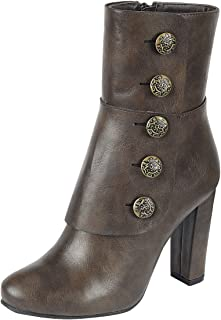 0dcf7eed7ac Cambridge Select Women s Steampunk Victorian Button Chunky Heel Ankle Boot