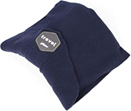 SAKEYR Neck Support Travel Pillows for Airplanes, Soft Comfortable Travel Neck Pillow Scarf for Unisex Men Women Kids Airplane Sleep Pillow with Adjustable Strap- Machine Washable (Dark Blue)