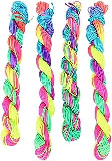 TOYANDONA 4 Bundles Handmade Braided Bracelets Assorted Colors Friendship Cords Thread Bracelets Party Supply Favors for W...