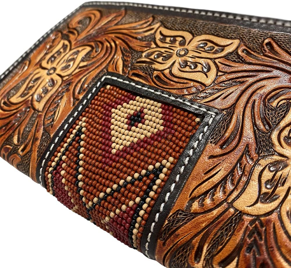 TWISTED X Men's Rodeo Floral Tooled Beaded Wallet