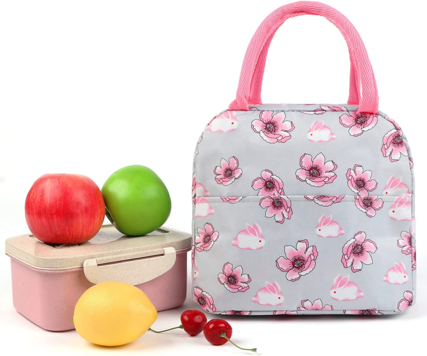 Lunch Bag Lunch Box Tote Bag for Women men Insulated Lunch Container Lunch Organizer,Lunch Holder with Front Pocket Zipper