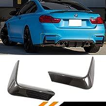 Fits for 2015-2018 BMW F80 M3 F82 F83 M4 Carbon Fiber Rear Bumper Lower Corner Vent Valance Lip Covers