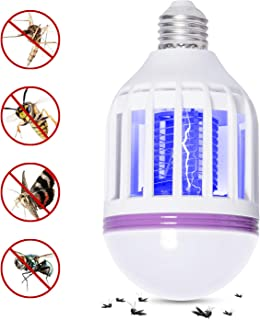 GLOUE Bug Zapper Light Bulb Medium Screw E26 Base 120V 10W Zap Wasp Bug Mosquito Zapper Led UV Lamp Flying Moths Killer