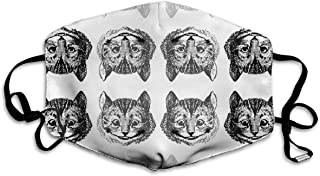 Ubnz50X Disappearing Cheshire Cat On White Cotton Mouth Masks,Anti-dust Face Mask for Women and Men