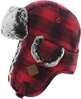 Best red flannel bomber hat Reviews