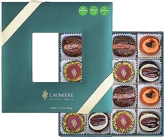 Laumière Gourmet Fruits - Le Cadeau Parfait Collection - Square Box - Nut and fruit gift basket - Dry fruits gift basket –...