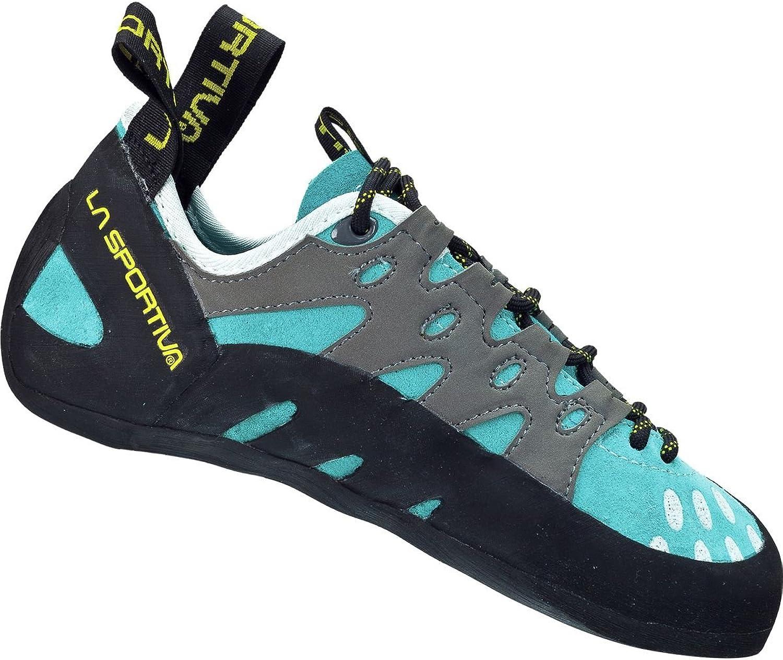 La Sportiva Women's TarantuLace Performance Rock Climbing shoes Turquoise 42 M EU