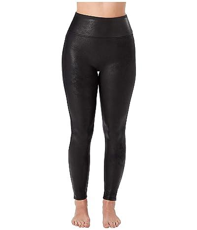 Spanx Petite Faux Leather Leggings (Black) Women