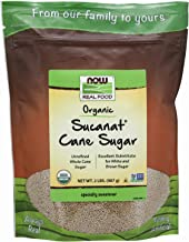 NOW Foods Sucanat, Organic Cane sugar, 32-Ounce (Pack of 4)
