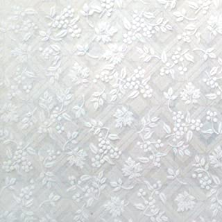 Pure Flower-Self-Adhesive Embossed Window Film Home Decor(Sample)