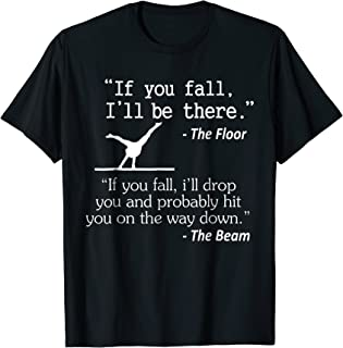 Girls & Boys Funny Gymnastics Floor Sayings Gift T-Shirt
