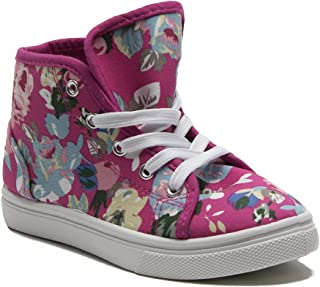 127b1eac7001 Ositos Kids Girls Cay-05K Floral Print Canvas Hi-Top Sneaker Boots Shoes