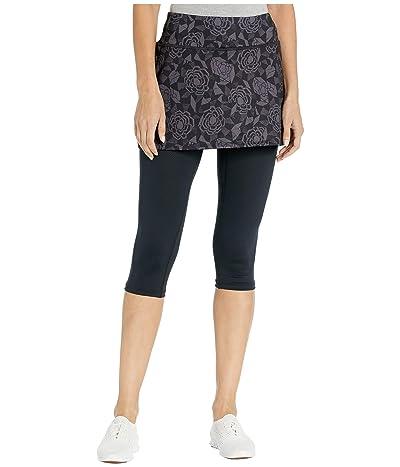 Skirt Sports Lotta Breeze Capri (Noir Fleur Print/Black) Women