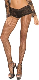 Women's Fence Net Back Seam Pantyhose with Attached Panty