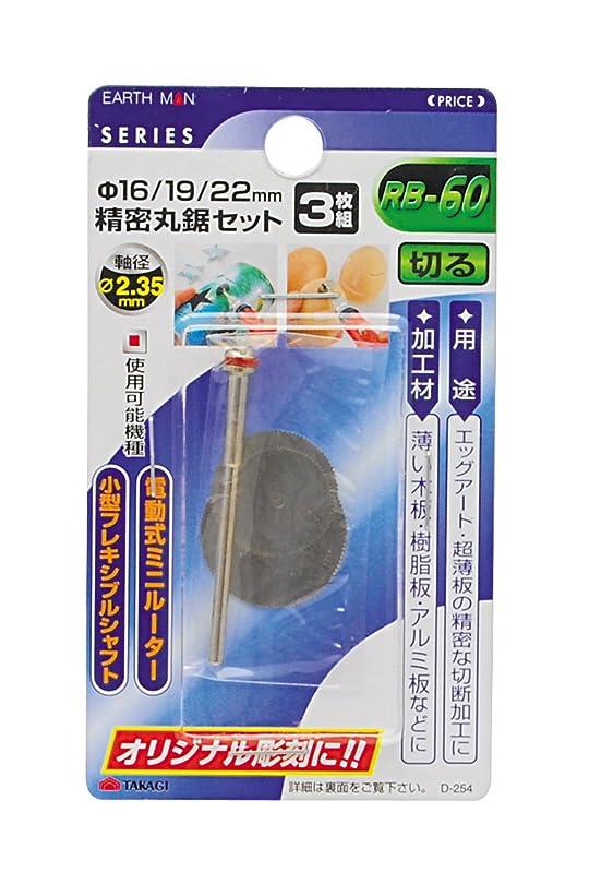 伝染性の本論理的高儀 EARTH MAN 精密丸のこセット 3枚組 RB-60