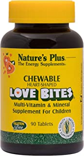 NaturesPlus Love-Bites Children's Chewable Tablets - 90 Heart-Shaped Tablets - Orange Pineapple - Multivitamin Supplement,...