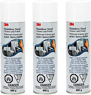 3M Stainless Steel Cleaner and Polish 3 Pack of 600g Each