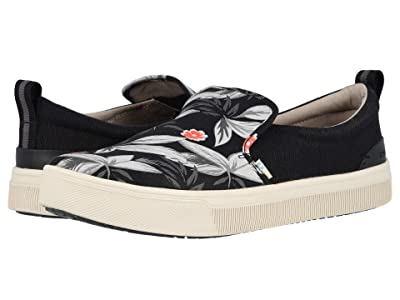 TOMS TRVL LITE Slip-On (Black Floral Print) Men