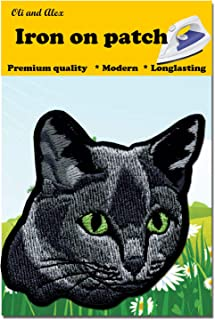 A-5, Cat DIY Embroidered Sew Iron on Patch Child's Patch 3.05 x 2.95 inches (7.7 x 7.5 cm)