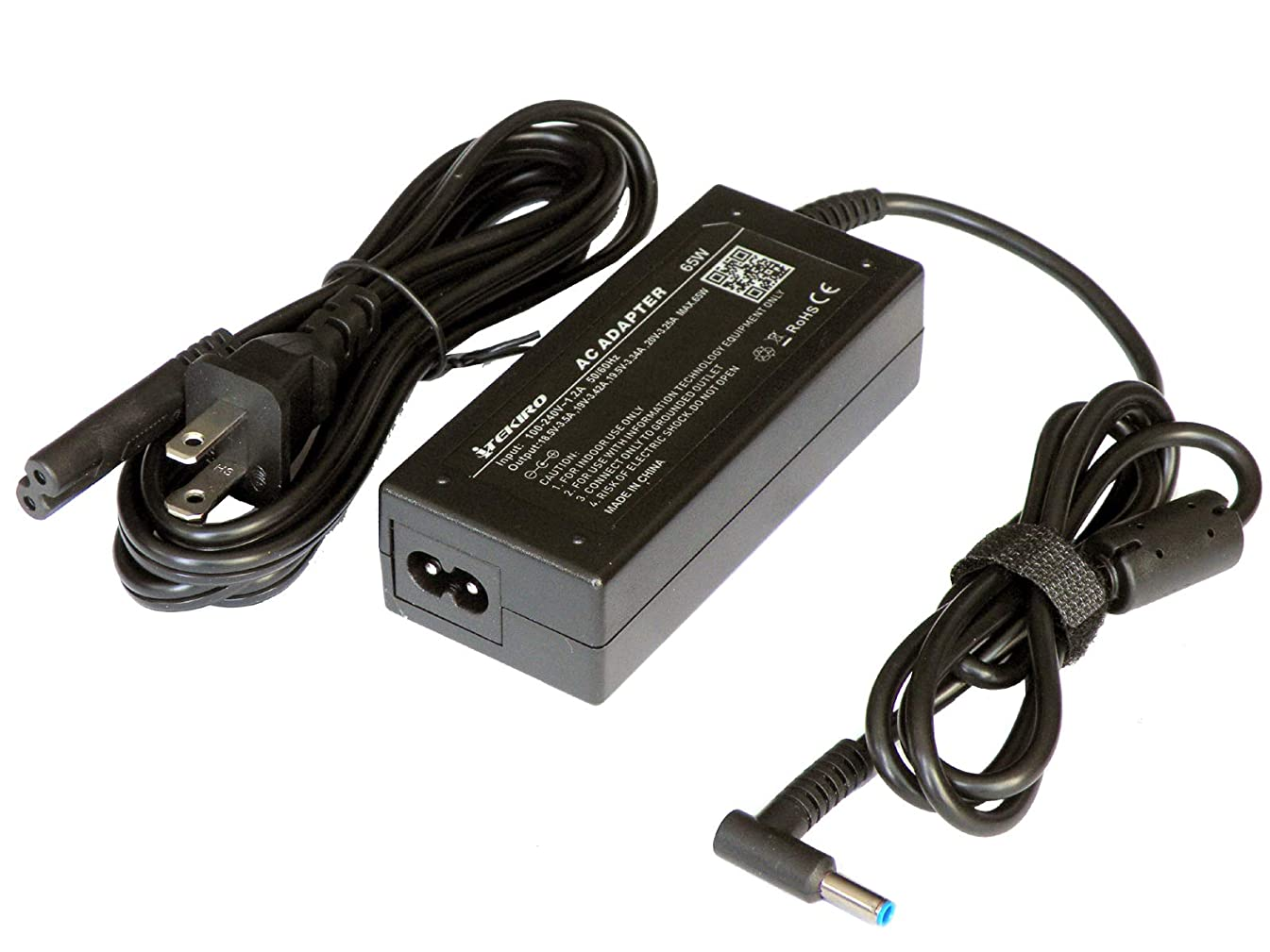 iTEKIRO AC Adapter for HP 15-bk168cl, 15-bk193ms, 15-bp175nr, 15-bn070wm, 15-br075nr, 15-br075nr, 15-br077nr, 15-bs015dx, 15-bs020nr, 15-bs030nr, 15-bs033cl, 15-bs113dx, 15-bw010Nr