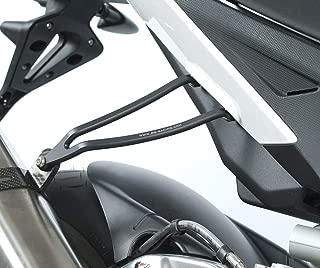 R&G Exhaust Hanger, Black, Aprilia RSV-4 Factory - Akrapovic slip-on exhaust