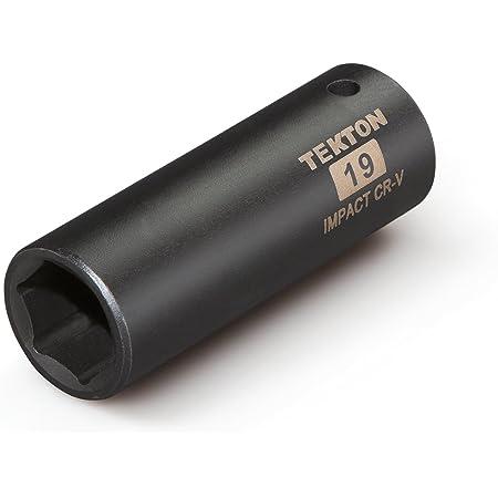 TEKTON 14201 3//8-Inch Drive by 19 mm Deep Socket 6-Point Cr-V