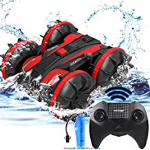 Toys for 5-10 Year Old Boys Girls 2 in 1 Remote Control Boat Amphibious RC Cars Off Road Truck 4WD 2.4Ghz Land Water RC To...