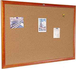 Cork Board 36 x 48 Inch Bulletin Board, Cork Notice Board 100% Wood Framed Brazil Imported, Mounting Hardware Push Pins Included