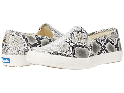 Keds x kate spade new york Double Decker Snake (Cream/Black Leather) Women