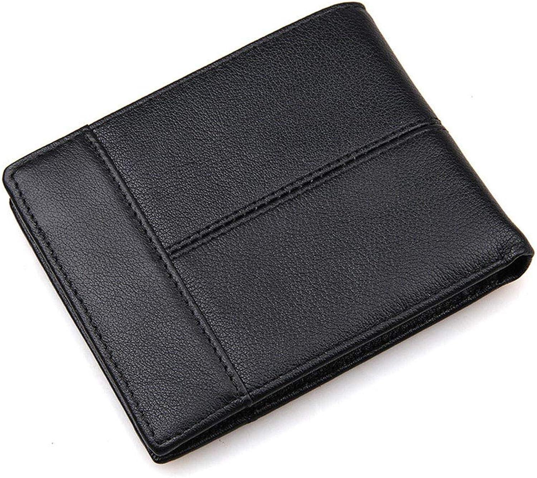 LMSHM Brieftasche Leder Herren Kurze Geldbörse Portemonnaie Portemonnaie Portemonnaie Brieftasche Kartenhalter Mit Münzfach,Schwarz B07L8XDK2S d1b5db