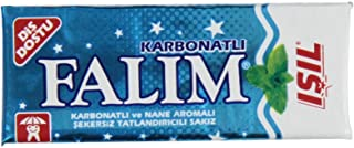 Falim Sugarless Plain Gum with Carbonat and mint aromatic, 20 Pack, 100 Pieces Each