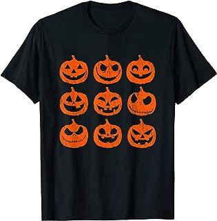 Vintage Jack-O-Lantern Pumpkin face Funny Halloween 2019 T-Shirt