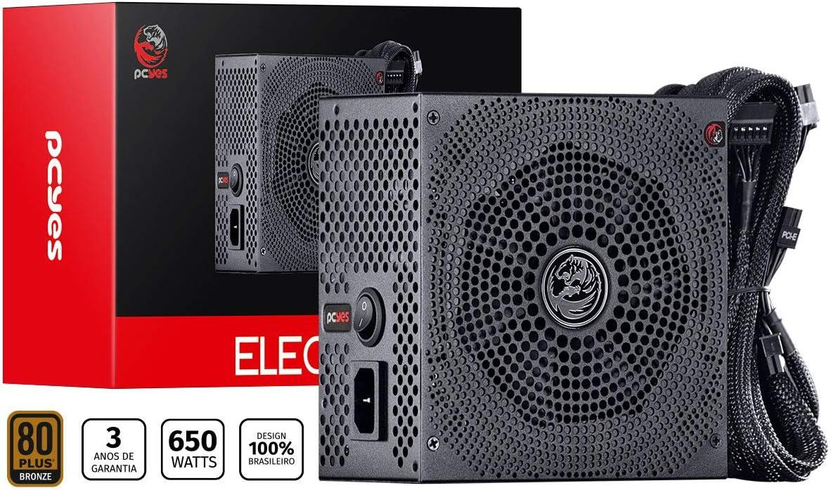FONTE ATX 650W REAL ELECTRO V2 SERIES 80 PLUS BRONZE 3 ANOS – ELECV2PTO650W