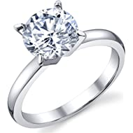 2 Carat Round Brilliant Cubic... 2 Carat Round Brilliant Cubic Zirconia CZ Sterling Silver 925 Wedding Engagement Ring Sizes 4 to 11